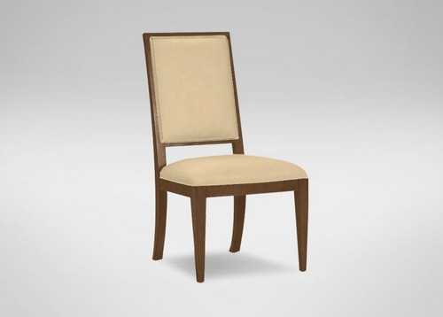 Hayden Tapered-Leg Leather Side Chair