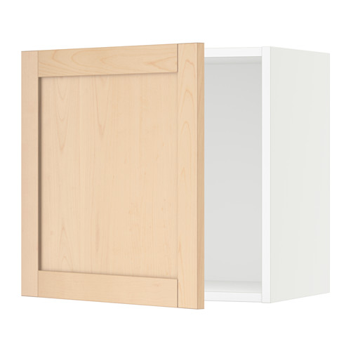 SEKTION Wall cabinet - white, Björket birch, 21x15x20