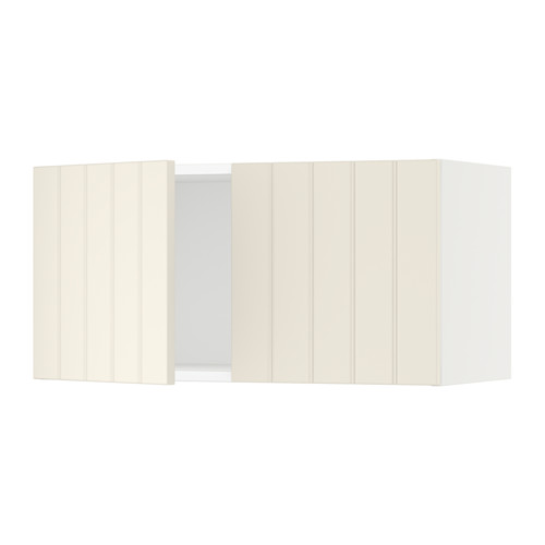 SEKTION Wall cabinet with 2 doors - white, Hittarp off-white, 30x15x15
